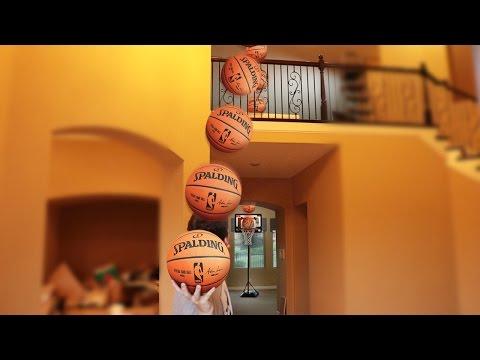 EPIC INDOOR MINI BASKETBALL CHALLENGES! (видео)