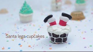 Santa leg cupcakes video