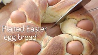Pain brioché de Pâques aux œufs durs