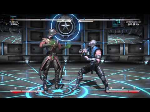 MKX Ermac (Mystic) Punishment Tutorial 01A - Sub-Zero Special (видео)