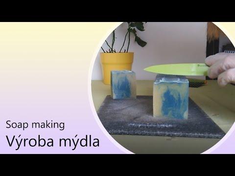 Výroba domácího mýdla #02 Mýdlo Rocco chaotický swirl