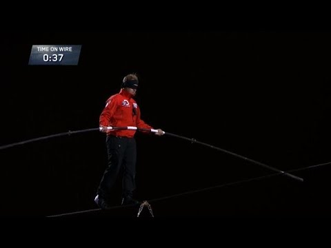 Nik Wallenda's Epic Blindfolded Skyscraper Walk