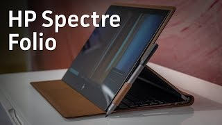 HP Spectre Folio Hands-on: A leather-clad laptop?