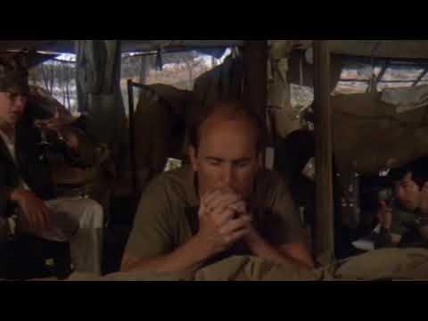 Frank Burns praying scene from MASH (1970)