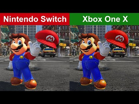 SUPER MARIO ODYSSEY - NINTENDO SWITCH vs. XBOX ONE - Graphics Comparison [FULL HD]
