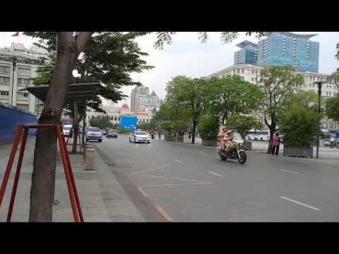 Xem CSGT hộ tống xe Mercedes Wi chống đạn đặc biệt