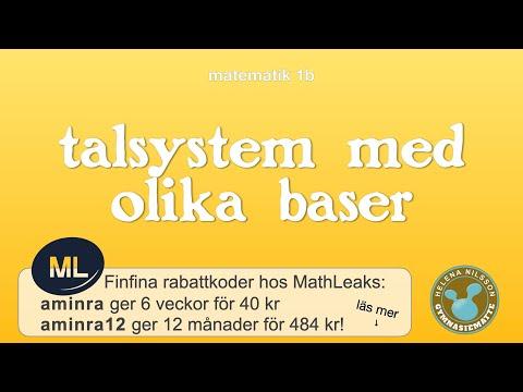 1b 1.4.3 talsystem med olika baser