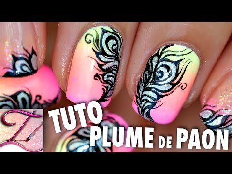 tutorial nail art - effetto piume