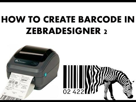 How To Create Barcode In ZebraDesigner 2