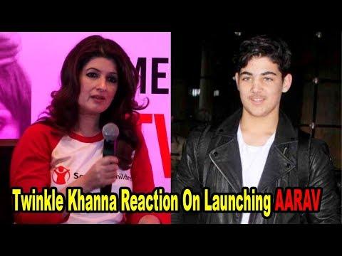 Twinkle Khanna Reaction On Launching Son Aarav Kumar | Bollywoodhelpline |