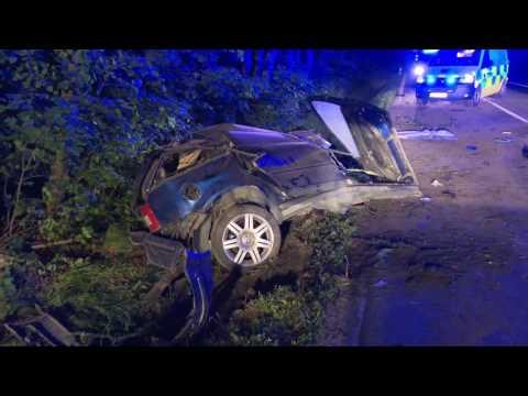 Nehoda osobního auta u Dobrušky