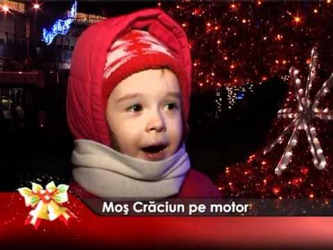 Moş Crăciun pe motor
