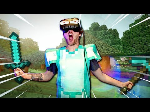 Minecraft In VR With Diamond Armor (cringe Included)