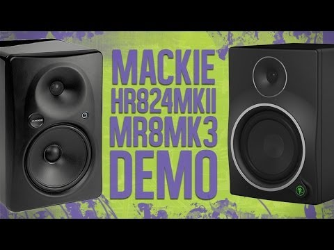 Mackie HR824mkII and MR8mk3 Studio Monitor Comparison and Review