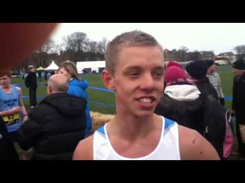Craig Nowak after 3rd place in Great Edinburgh XC 2013