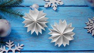 Снежинки из бумаги  Оригами на Новый год 2019