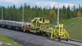 Download Video Worlds largest track layer - Plasser & Theurer SVM1000 Infranord at Haparandabanan, Sweden MP3 3GP MP4