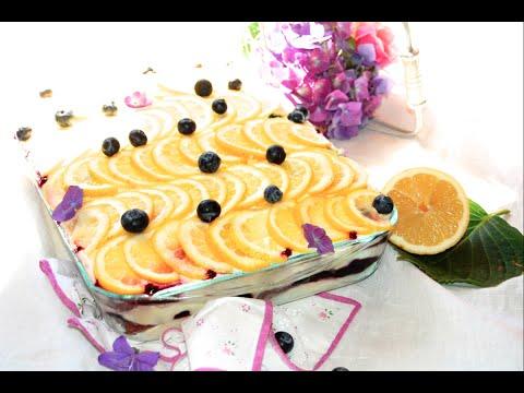 tiramisù al limone e mirtilli - ricetta