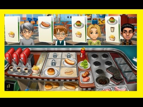 Cooking Fever Fastfood Restaurant OggyTube Gaming  - Gameplay Video