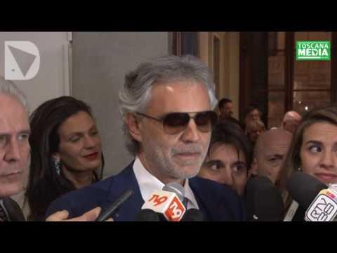 ANDREA BOCELLI SUL CONFERIMENTO GONFALONE D'ARGENTO - dichiarazione
