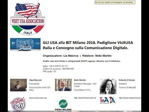 Video GLI USA alla BIT Milano 2018 Padiglione VisitUSA Italia e Convegno (20-11-2017)