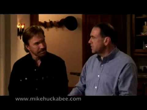 Chuck Norris and Mike Huckabee FUNNY BLOOPERS!