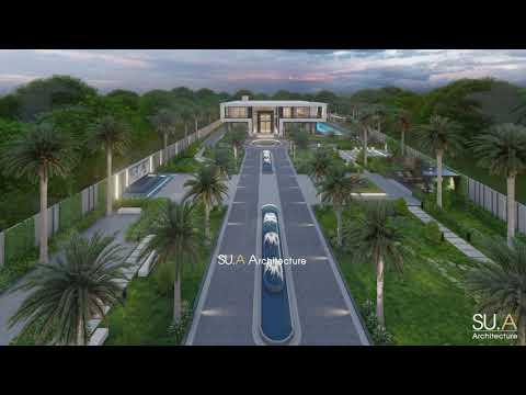 Thiết kế và thực tế mảnh đất 7000m2 dự án Luxury Villa