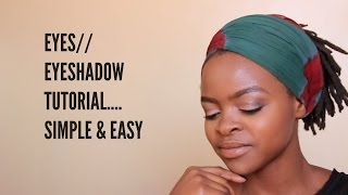 Simple Eyeshadow Makeup Tutorial/Everyday Eyeshadow