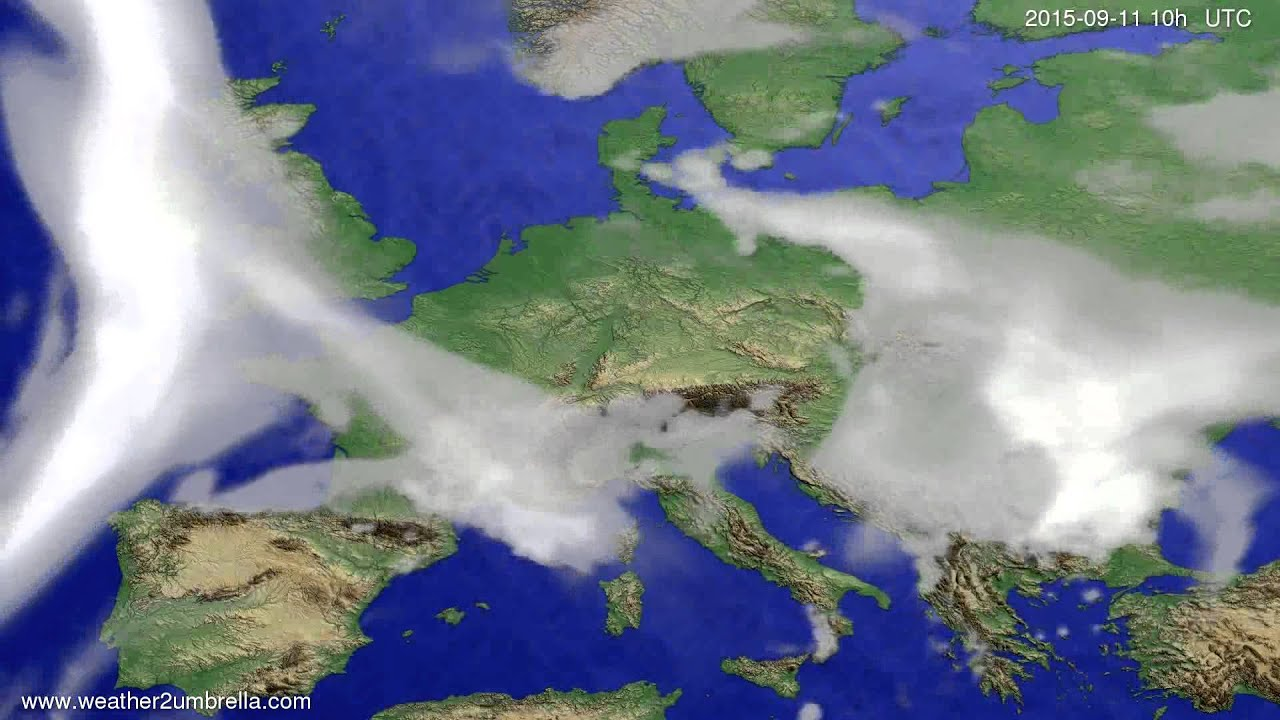 Cloud forecast Europe 2015-09-08