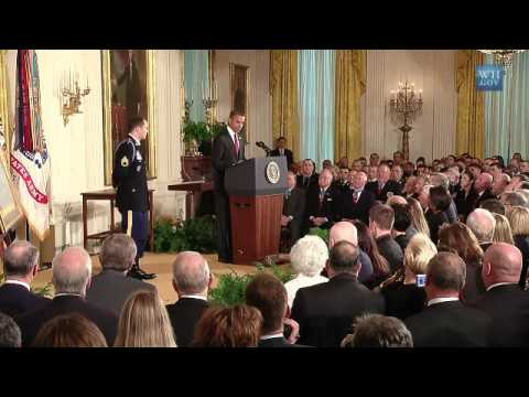 honor - President Obama awards Staff Sergeant Salvatore Giunta, U.S. Army, the Medal of Honor for conspicuous gallantry for his courageous actions against an armed e...