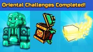 ORIENTAL CHALLENGES UNLOCKED! l Pixel Gun 3D