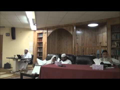 قراءة مسلم على ش ظهير الدين و عبد الرحمن المباركفوريين من قوله