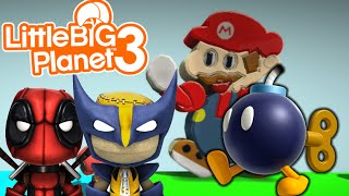 BOMBS AWAY! | Mario Bomb Survival | Little Big Planet 3 Multiplayer (5)