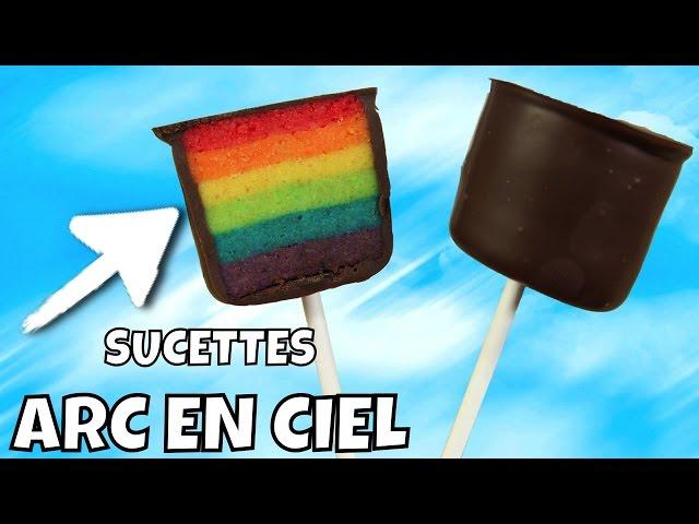 Recette sucette arc en ciel rainbow pop cake - Recette pop cake ...
