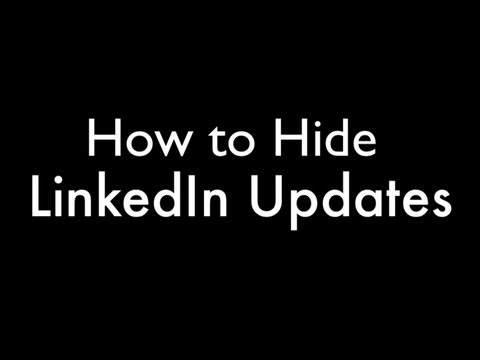 how to hide updates on linkedin