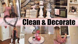 CLEAN WITH ME 2019// CLEANING MOTIVATION AND VALENTINES DECORATE WITH ME // BEAUTY AND THE BEASTONS