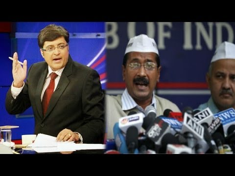 Aap - In a debate moderated by TIMES NOW's Editor-in-Chief Arnab Goswami, panelists -- Abid Rasool Khan, Spokesperson, Cong; Vani Tripathi Tikkoo, Natl Secy, BJP; ...