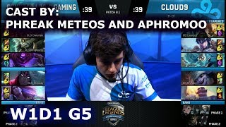 Video CLG vs Cloud 9 - Cast by Phreak, Meteos and Aphromoo | Week 1 Day 1 of S8 NA LCS Spring 2018 MP3, 3GP, MP4, WEBM, AVI, FLV Juni 2018
