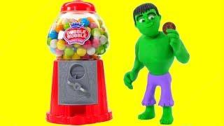 Video HULK & THE GUMBALL MACHINE ❤ Spiderman, Hulk & Frozen Elsa Play Doh Cartoons For Kids MP3, 3GP, MP4, WEBM, AVI, FLV Juni 2018