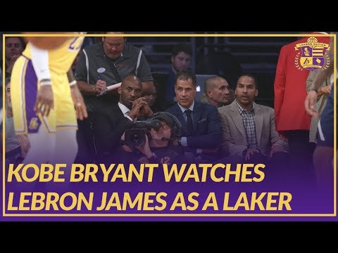 Video: Lakers News: Kobe Bryant Watches LeBron James as Laker For the First Time at Staples Center