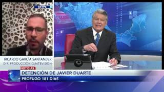 Entrevista a Ricardo García Santander sobre extradición de Javier Duarte