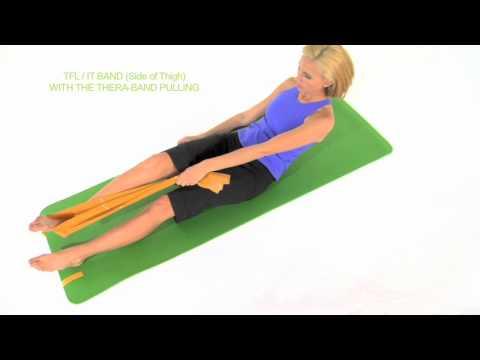 大腿筋膜張筋をタオルを使ってストレッチ!(ももの横)