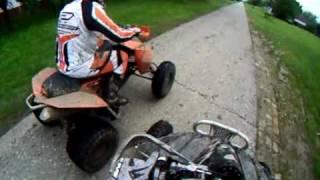 9. KTM 450 xc vs KAWASAKI kfx 450 r -DRAG race SERBIA