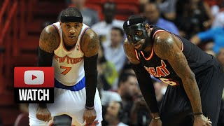 2014.02.27 - LeBron James vs Carmelo Anthony Battle Highlights - Heat vs Knicks