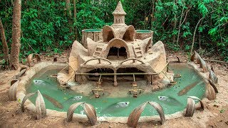 Build Most Amazing Fish Pond Around Dog House And Raising Thousand Of bronze Feather Back Fish