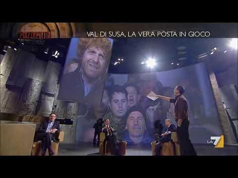 Mega casino in studio per l'aggressione ai giornalisti Piazza Pulita 2012 03 01