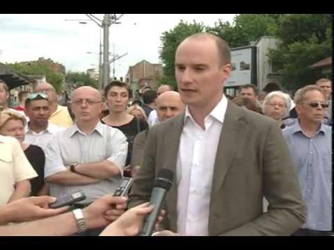 Балша Божовић и Драгослав Шумарац на протестном скупу грађана Градске општине Вождовац