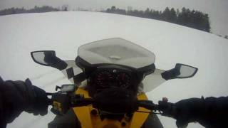 1. 2010 ski doo mxz sport 600 riding