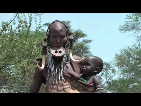 nude african tribal women - http://www.african-road-trip.com/ Mursi people - native African tribes in the Omo valley in South of Ethiopia. They live in an area that is surrounded by hig...