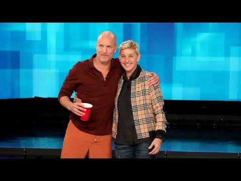 Woody Harrelson Shows Ellen How to Play 'Beersbee'
